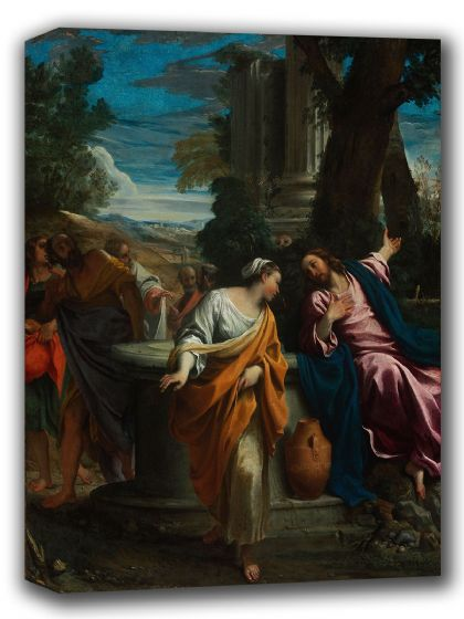Carracci, Annibale: Christ and the Samaritan Woman. Fine Art Canvas. Sizes: A4/A3/A2/A1 (002055)